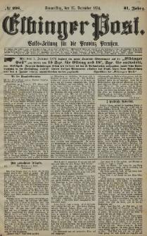 Elbinger Post, Nr. 226, Donnerstag 17 Dezember 1874, 41 Jh