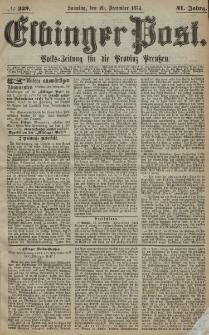 Elbinger Post, Nr. 229, Sonntag 20 Dezember 1874, 41 Jh