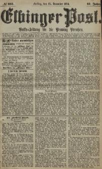 Elbinger Post, Nr. 233, Freitag 25 Dezember 1874, 41 Jh