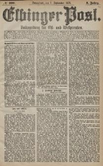Elbinger Post, Nr. 209 Sonnabend 7 September 1878, 5 Jahrg.