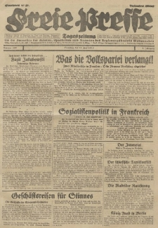 Freie Presse, Nr. 133 Dienstag 11 Juni 1929 5. Jahrgang