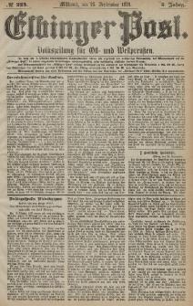 Elbinger Post, Nr. 224 Mittwoch 25 September 1878, 5 Jahrg.