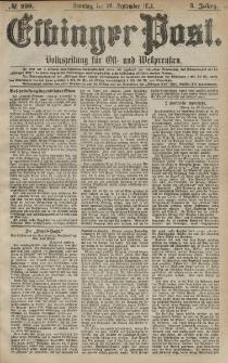Elbinger Post, Nr. 228 Sonntag 29 September 1878, 5 Jahrg.
