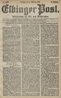 Elbinger Post, Nr. 232 Freitag 4 Oktober 1878, 5 Jahrg.