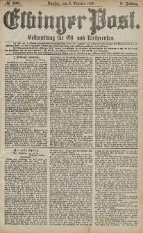 Elbinger Post, Nr. 235 Dienstag 8 Oktober 1878, 5 Jahrg.