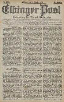 Elbinger Post, Nr. 236 Mittwoch 9 Oktober 1878, 5 Jahrg.