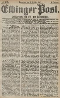 Elbinger Post, Nr. 237 Donnerstag 10 Oktober 1878, 5 Jahrg.