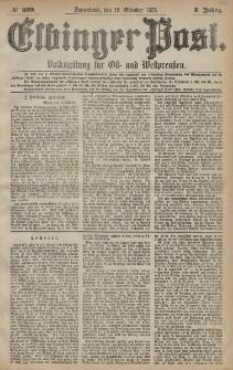 Elbinger Post, Nr. 239 Sonnabend 12 Oktober 1878, 5 Jahrg.