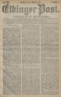 Elbinger Post, Nr. 240 Sonntag 13 Oktober 1878, 5 Jahrg.