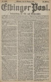 Elbinger Post, Nr. 242 Mittwoch 16 Oktober 1878, 5 Jahrg.