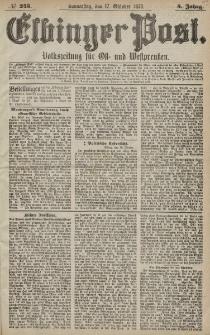 Elbinger Post, Nr. 243 Donnerstag 17 Oktober 1878, 5 Jahrg.