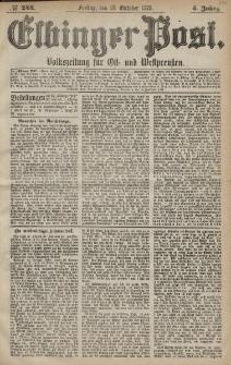 Elbinger Post, Nr. 244 Freitag 18 Oktober 1878, 5 Jahrg.