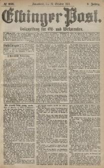 Elbinger Post, Nr. 245 Sonnabend 19 Oktober 1878, 5 Jahrg.