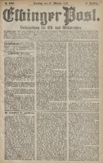 Elbinger Post, Nr. 246 Sonntag 20 Oktober 1878, 5 Jahrg.