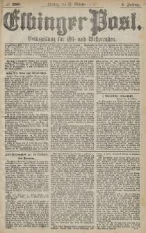 Elbinger Post, Nr. 250 Freitag 25 Oktober 1878, 5 Jahrg.