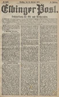 Elbinger Post, Nr. 253 Dienstag 29 Oktober 1878, 5 Jahrg.