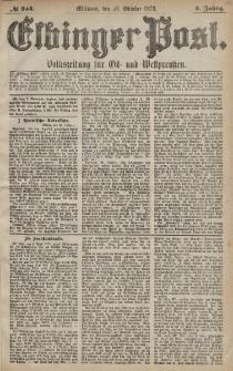 Elbinger Post, Nr. 254 Mittwoch 30 Oktober 1878, 5 Jahrg.