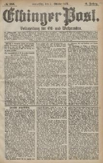 Elbinger Post, Nr. 255 Donnerstag 31 Oktober 1878, 5 Jahrg.