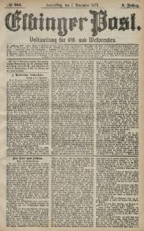Elbinger Post, Nr. 261 Donnerstag 7 November 1878, 5 Jahrg.