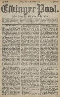 Elbinger Post, Nr. 268 Freitag 15 November 1878, 5 Jahrg.