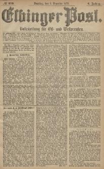 Elbinger Post, Nr. 288 Sonntag 8 Dezember 1878, 5 Jahrg.
