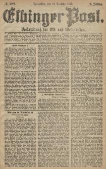Elbinger Post, Nr. 297 Donnerstag 19 Dezember 1878, 5 Jahrg.