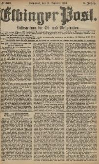 Elbinger Post, Nr. 303 Sonnabend 28 Dezember 1878, 5 Jahrg.