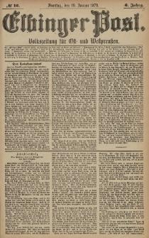 Elbinger Post, Nr. 16 Sonntag 19 Januar 1879, 6 Jahrg.