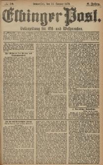Elbinger Post, Nr. 19 Donnerstag 23 Januar 1879, 6 Jahrg.