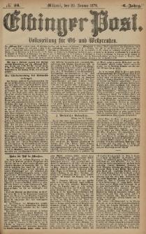 Elbinger Post, Nr. 24 Mittwoch 29 Januar 1879, 6 Jahrg.