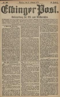 Elbinger Post, Nr. 29 Dienstag 4 Februar 1879, 6 Jahrg.