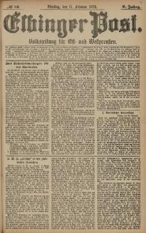 Elbinger Post, Nr. 35 Dienstag 11 Februar 1879, 6 Jahrg.