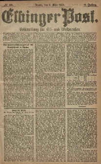 Elbinger Post, Nr. 58 Sonntag 9 März 1879, 6 Jahrg.