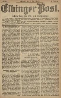 Elbinger Post, Nr. 84 Mittwoch 8 April 1879, 6 Jahrg.