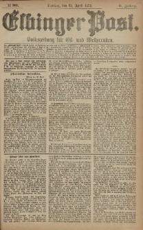 Elbinger Post, Nr. 99 Dienstag 29 April 1879, 6 Jahrg.