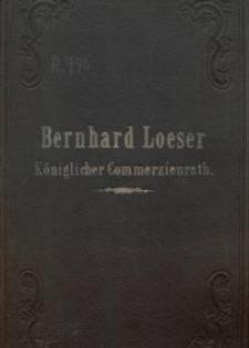 Loeser Bernard : Königlicher Commerzienrath : Flugblätter und Todesanzeigen