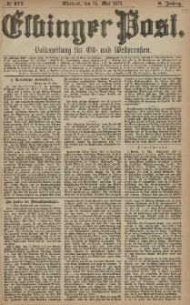 Elbinger Post, Nr. 111 Mittwoch 14 Mai 1879, 6 Jahrg.