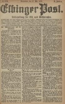 Elbinger Post, Nr. 114 Sonnabend 17 Mai 1879, 6 Jahrg.