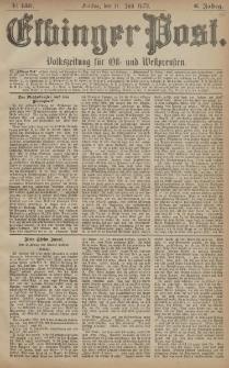Elbinger Post, Nr. 159 Freitag 11 Juli 1879, 6 Jahrg.