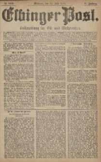 Elbinger Post, Nr. 169 Mittwoch 23 Juli 1879, 6 Jahrg.