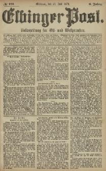 Elbinger Post, Nr. 175 Mittwoch 30 Juli 1879, 6 Jahrg.