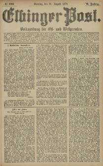 Elbinger Post, Nr. 192 Dienstag 19 August 1879, 6 Jahrg.