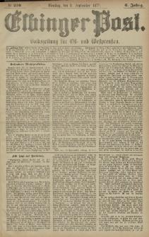 Elbinger Post, Nr. 210 Dienstag 9 September 1879, 6 Jahrg.