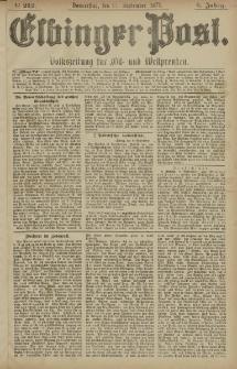 Elbinger Post, Nr. 212 Donnerstag 11 September 1879, 6 Jahrg.