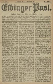 Elbinger Post, Nr. 213 Freitag 12 September 1879, 6 Jahrg.