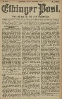 Elbinger Post, Nr. 214 Sonnabend 13 September 1879, 6 Jahrg.
