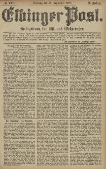 Elbinger Post, Nr. 221 Sonntag 21 September 1879, 6 Jahrg.