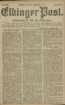 Elbinger Post, Nr. 226 Sonnabend 27 September 1879, 6 Jahrg.