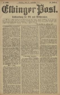 Elbinger Post, Nr. 228 Dienstag 30 September 1879, 6 Jahrg.