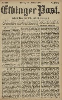 Elbinger Post, Nr. 229 Mittwoch 1 Oktober 1879, 6 Jahrg.